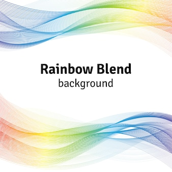 Abstract blend rainbow background