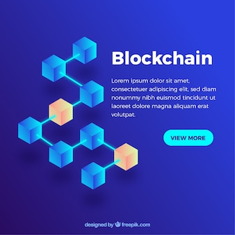 Abstract blockchain background