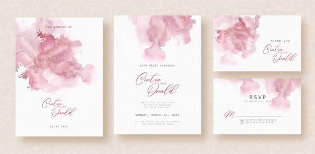 結婚式のカードの抽象的な血まみれの赤い水彩画の背景 Premiumベクター