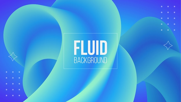 Abstract blue 3d fluid shape background