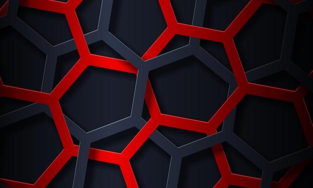 抽象的な青と黒の六角形の線の背景。広告、ポスター、バナーに最適なデザイン。