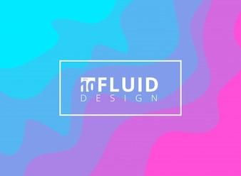 抽象的な青とピンクの流体デザインの背景。