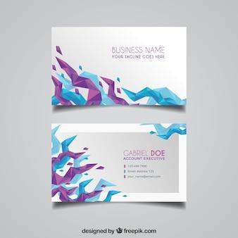 Абстрактная синяя и фиолетовая визитная карточка