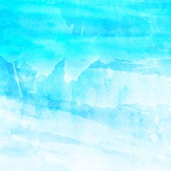 ブラシ ストロークで抽象的な青と白の背景