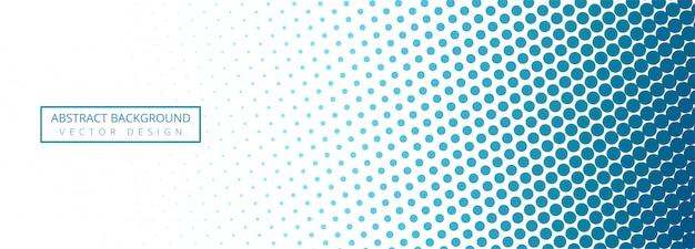 抽象的な青と白の点線のバナーの背景