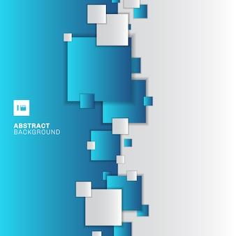 추상 파란색과 흰색 기하학적 사각형