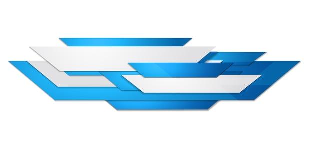 抽象的な青と白のモーションテクノロジーデザイン。企業の背景