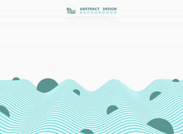 抽象的な青と白の光波線デザインの背景。