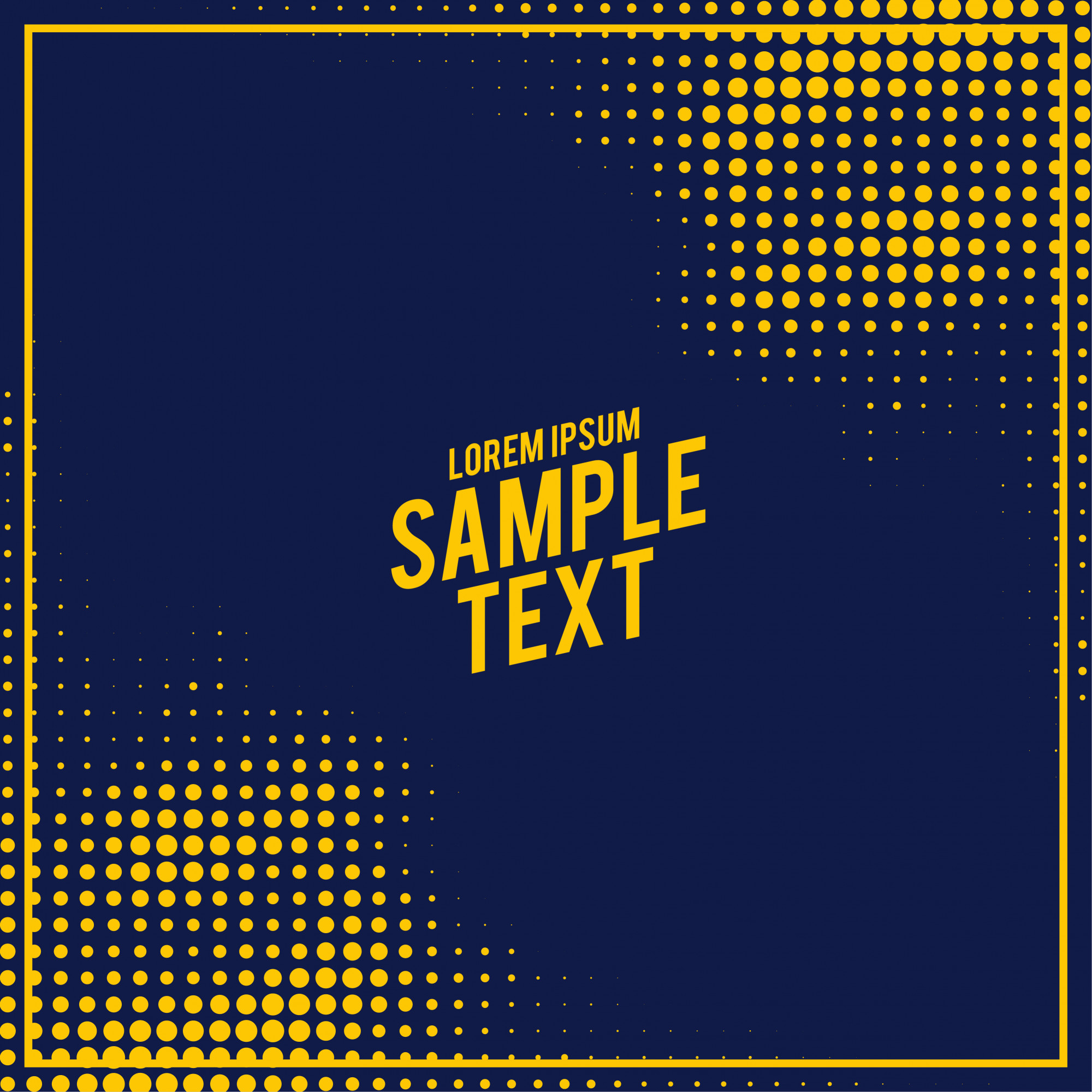 Abstract blue and yellow halftone pattern