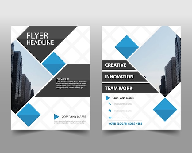 Abstract blue annual report design
