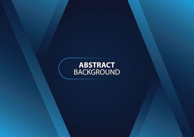 Abstract blue arrow dark blue background