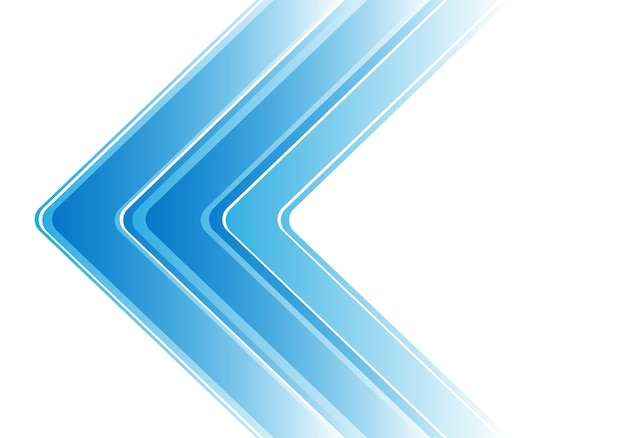 Abstract blue arrow on white modern background