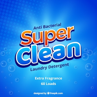 Abstract blue background of detergent