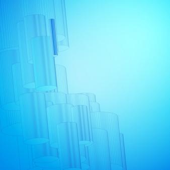 デザインのための抽象的な青い背景。