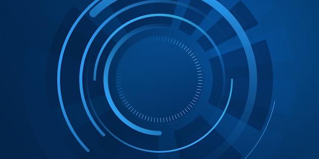 Абстрактный синий фон hud tech.