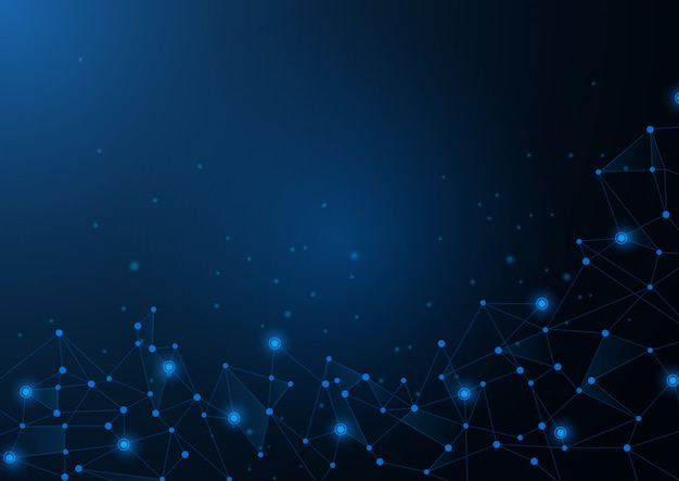 Abstract blue background, of science and technology graphic design.