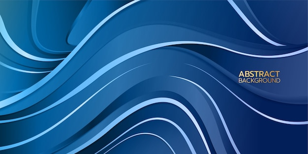Abstract blue background. swirl and curve line gradient stroke concept.