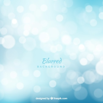Abstract blue background with bokeh effect