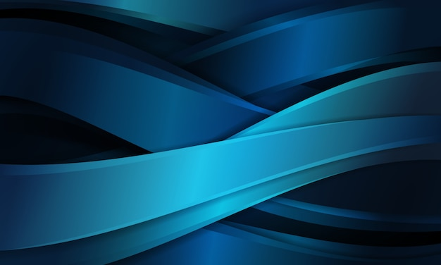 Abstract blue background with curve shapes cross pattern