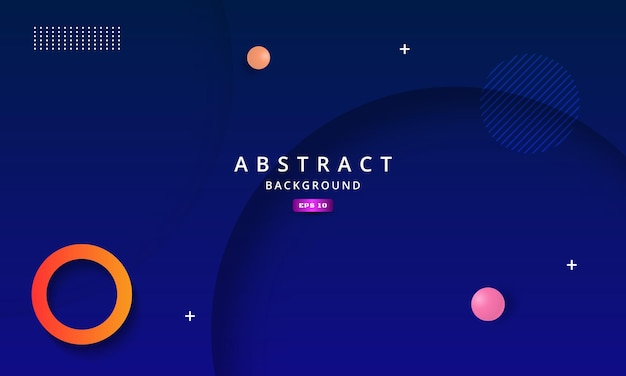 Abstract blue background with deep shadow effect