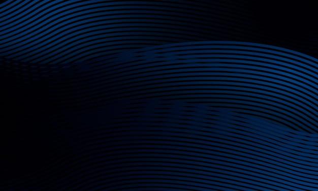 ダイナミックなラインと抽象的な青い背景
