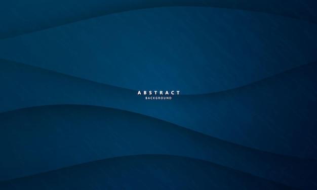 ダイナミックな波と抽象的な青い背景