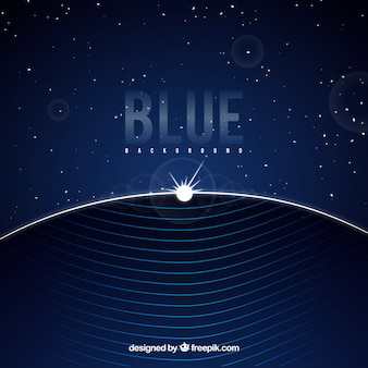 Abstract blue background with flat design