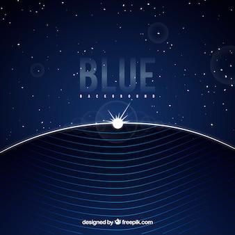 フラットデザインの抽象的な青い背景
