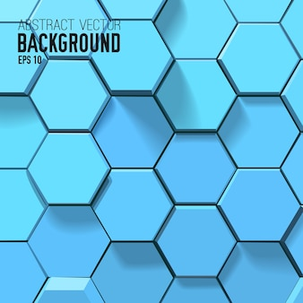 Abstract blue background with geometric hexagons