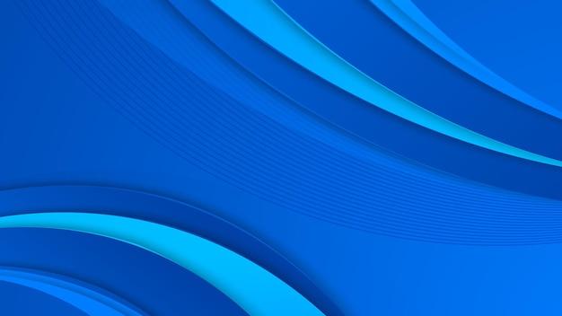 Абстрактный синий фон с украшением геометрических фигур