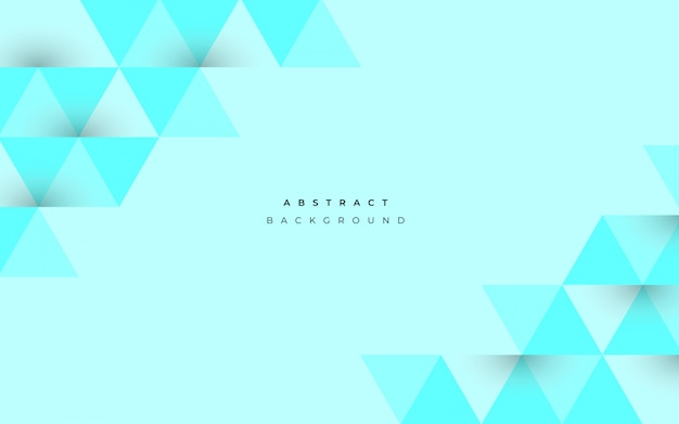 Abstract blue background with geometrical shapes