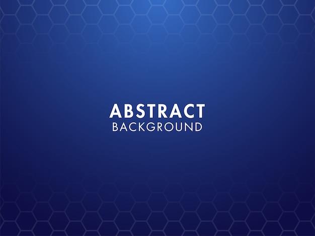 Абстрактный синий фон с образцом шестиугольника