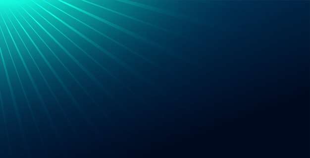 Abstract blue background with light rays falloff
