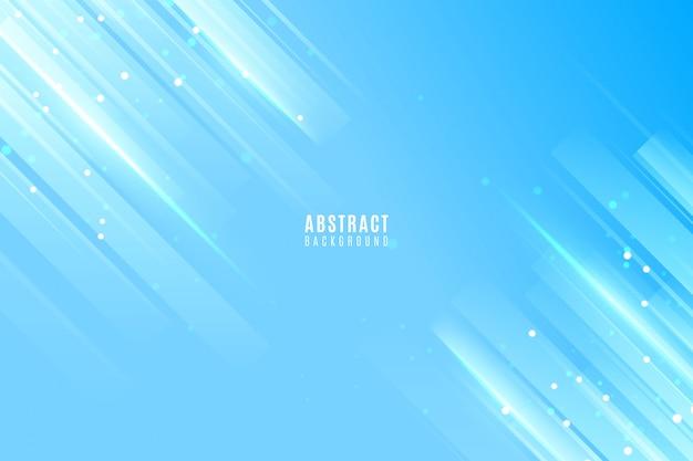 ライトラインと抽象的な青い背景