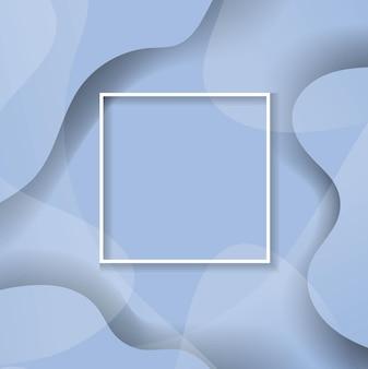 Абстрактный синий фон с линией и рамкой