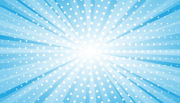 Abstract blue background with sun ray. summer vector illustration for design