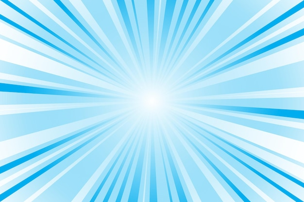 Abstract blue background with sun rays. summer vector illustration for design