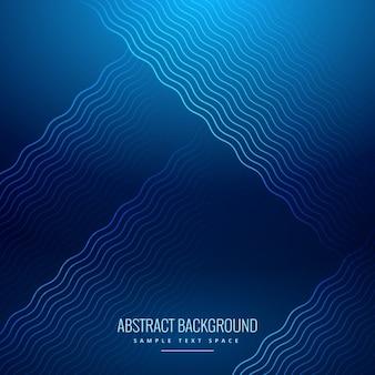 Astratto sfondo blu con linee ondulate