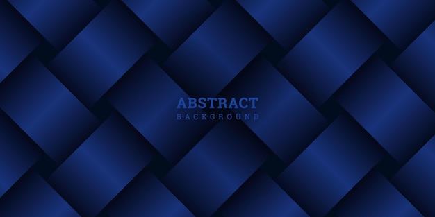 織りパターンと抽象的な青い背景