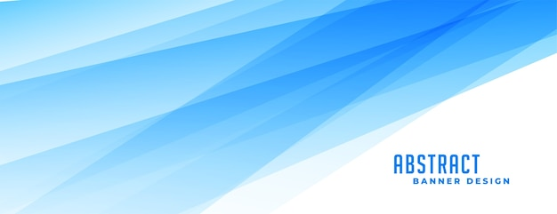 Abstract blue banner with transparent lines effect