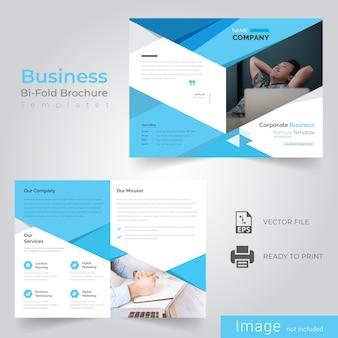 Abstract Blue Bi Fold Brochure