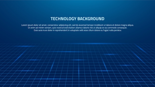 Abstract blue big data representation technology background