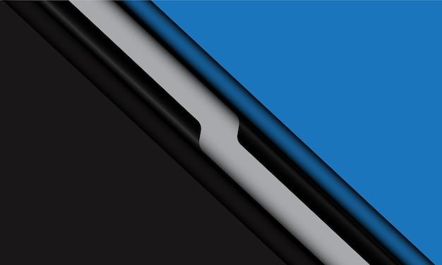 抽象的な青黒灰色の線の影は、現代の未来的な背景をスラッシュします