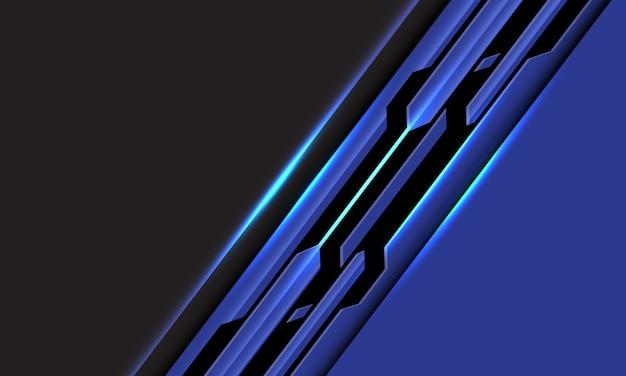 灰色の抽象的な青黒線回路サイバースラッシュ