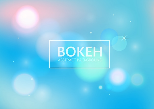 Abstract blue bokeh light background.