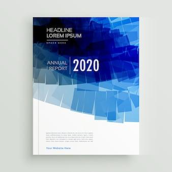 Disegno astratto modello di brochure blu