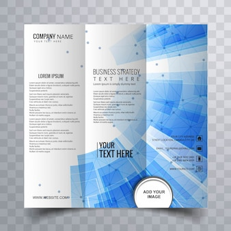Abstract blue brochure with technological elements