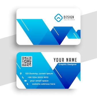 Abstract blue business card in modern style