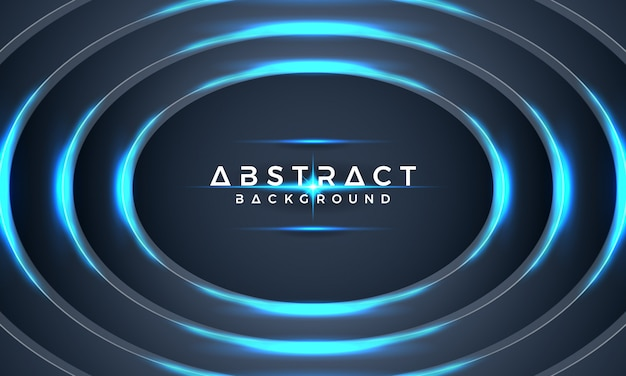 Abstract blue circle metallic 3d vector background.