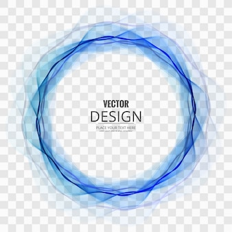 Abstract blue circle on transparent background